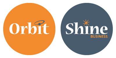 Orbit Agency and Shine Busines Logos